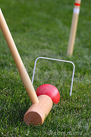 Free Close Up Of Game Of Croquet Royalty Free Stock Photo - 9574295