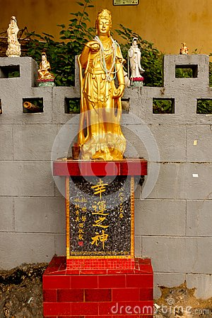 Free Close Up Of Golden Statue In Tin Hau Temple Repulse Bay In Hong Royalty Free Stock Photo - 106768405