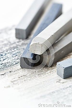 Free Close Up Of Gray Hard Pastels Stock Image - 29112331