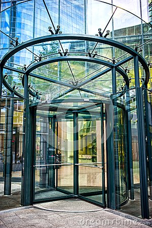 Free Close-up Of Modern Glass Door At Corporate Business Building Stock Photos - 41525113