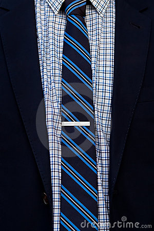Free Close Up Of Suit And Tie With Tie Clip Royalty Free Stock Image - 21182436