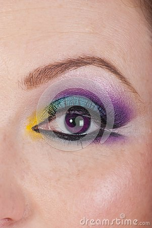 Free Close Up Of Ultra Violet Eyeball Woman Stock Photos - 113065633