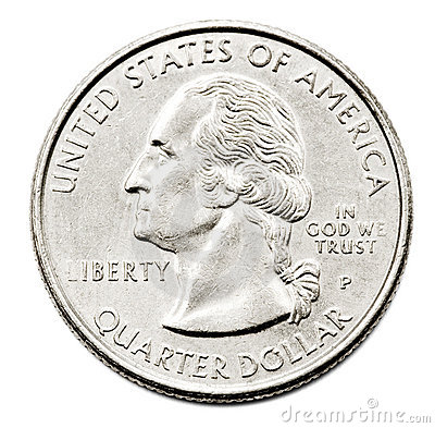 Free Close-Up Of Us Quarter Dollar Royalty Free Stock Image - 8795886