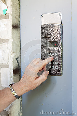 Free Close-up Of Uses Intercom Stock Photo - 25324810
