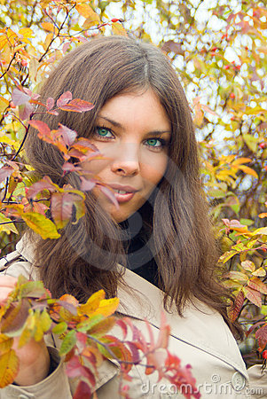Free Close-up Of Woman Eyes And Autumn Stock Image - 6648091