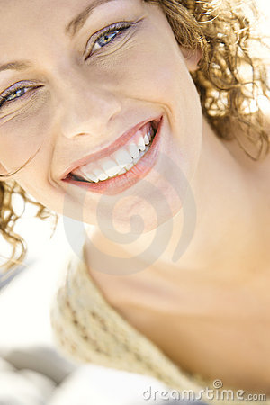 Free Close-up Of Woman S Smiling Face. Stock Photography - 4411822