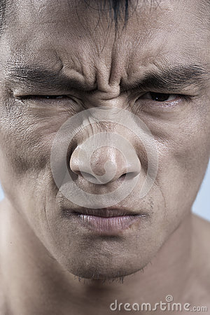 Free Close Up Of Young Mans Face, Irritated Stock Photo - 31109350