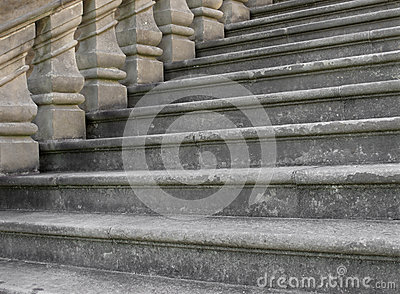 Close-up of old stonework steps