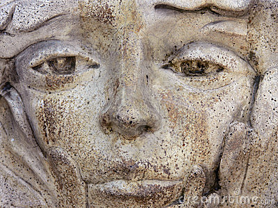 Close-up of Old Weathered Statue