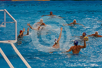 Close-up of Olympic water polo match Editorial Photography