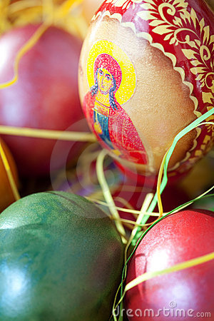 Free Close Up On Easter Painted Eggs Royalty Free Stock Images - 13295039