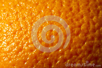 Close up orange skin background