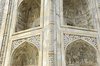 Close up,  part of Taj Mahal