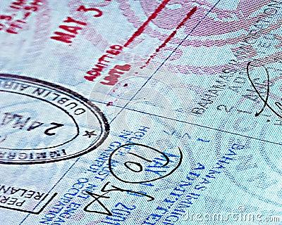 Close up Passport page