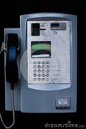 Close up of a Payphone