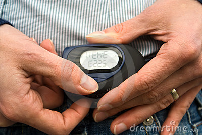 Close up of a pedometer