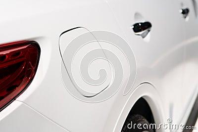 A close up of a petrol cap cover