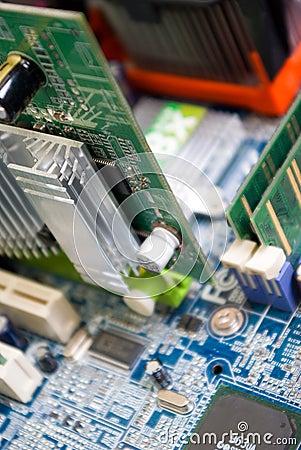 Close up photo circuit plate