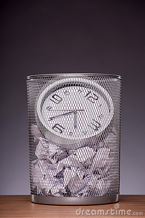 Free Close-up Photo Of A Clock In Refuse Bin With Other Stock Images - 45223944