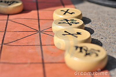 Close-up pictures of Chinese Chess