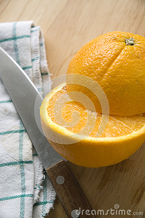 Close up piece of orange