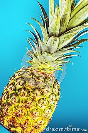 Closeup pineapple