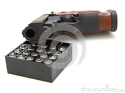 The close up of a pistol