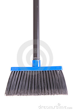Close-up of plastic broom