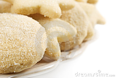 Close up of a plate of cookies