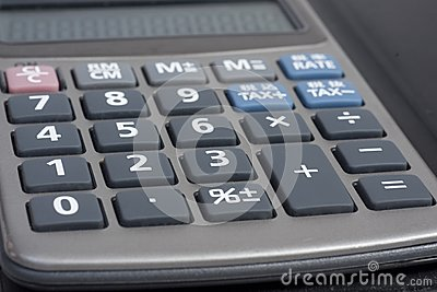 Close-up of pocket calculator