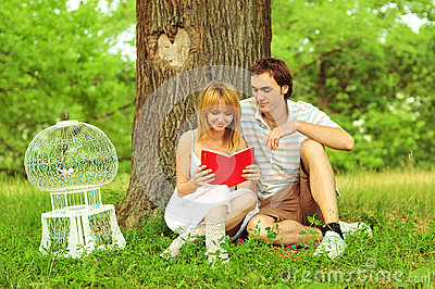 Close up portrait of attractive young couple