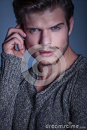 Close up portrait of a beauty man