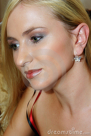 Close-up portrait of a blond