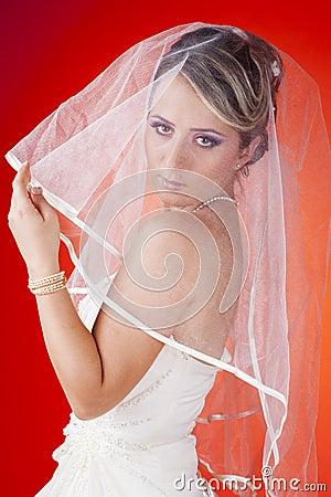 Close up portrait of bride