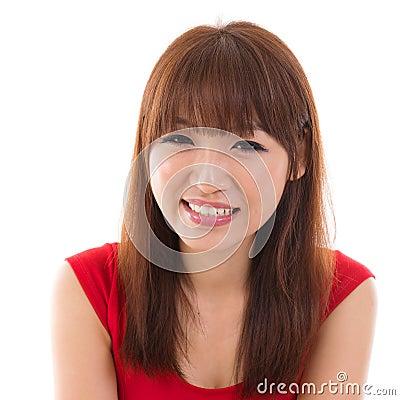 Free Close Up Portrait Headshot Of Asian Woman Stock Image - 32671111