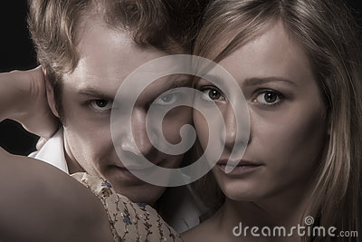 Close up portrait of husband and wife