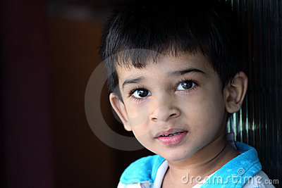 Close-up Portrait of Indian Boy