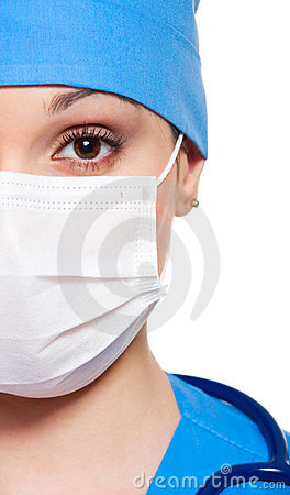 Close-up portrait of nurse