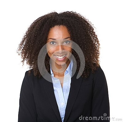 Free Close Up Portrait Of A Smiling Black Business Woma Royalty Free Stock Image - 43362166