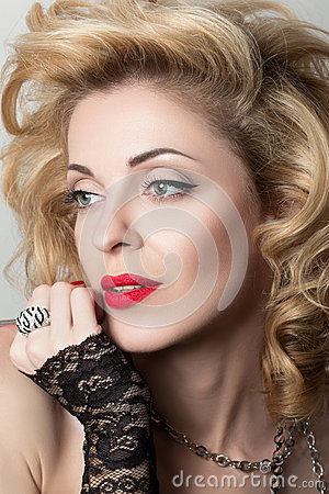 Free Close-up Portrait Of Blonde Sexual Thoughtful Mature Woman Stock Photos - 52500763