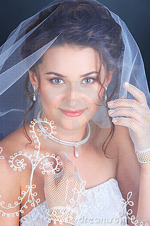 Free Close Up Portrait Of The Bride Royalty Free Stock Photo - 12806845