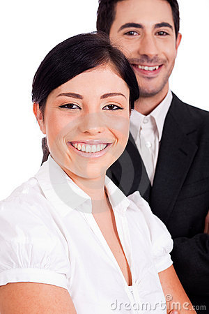 Close up portrait of a young business people