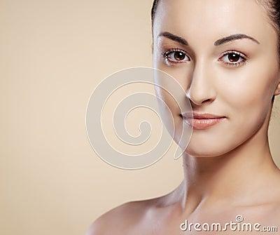 Close-up portrait  young woman