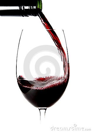 Close up of pouring a glass of wine