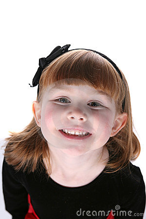 Phenomenal Close Up Of Pretty Little Girl With Black Hair Bow Stock Image Short Hairstyles For Black Women Fulllsitofus