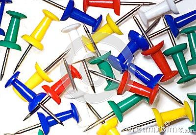 Close up of  push pins