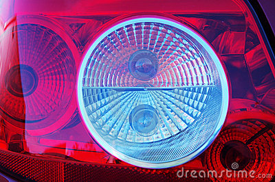 Close-up rear light