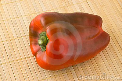 Close up of red bell pepper