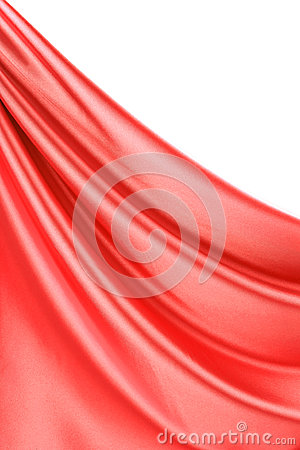 Close up of red silk with streams.