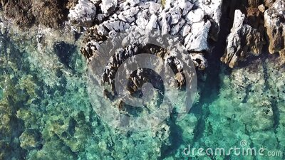 A close up of a rock. High quality footage stock video footage